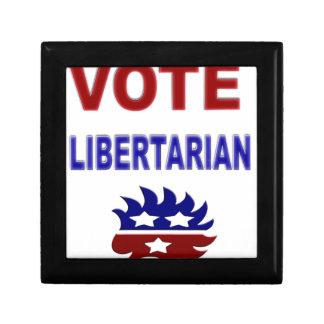 Libertario del voto cajas de regalo
