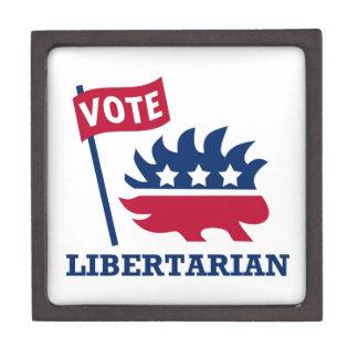 LIBERTARIO del VOTO - libertad/libertad/constituci Cajas De Recuerdo De Calidad