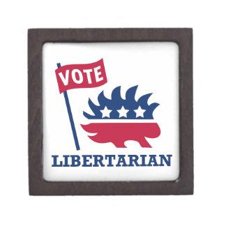 LIBERTARIO del VOTO - libertad/libertad/constituci Caja De Joyas De Calidad