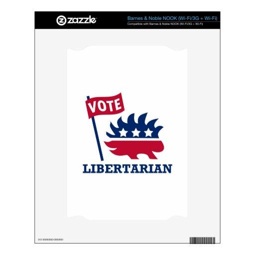 LIBERTARIO del VOTO - libertad/libertad/constituci Calcomanía Para El NOOK