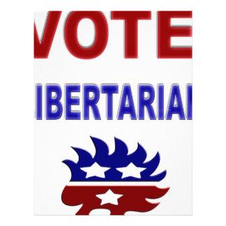 Libertario del voto plantilla de membrete
