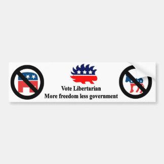 Libertario del voto pegatina para auto