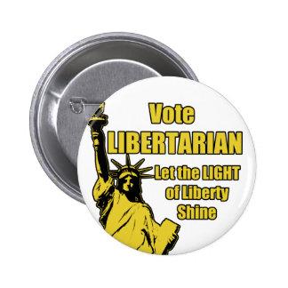 Libertario del voto pin redondo 5 cm