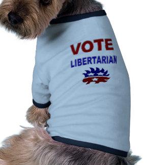 Libertario del voto prenda mascota