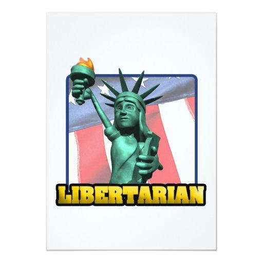 """Libertario Invitación 5"""" X 7"""""""