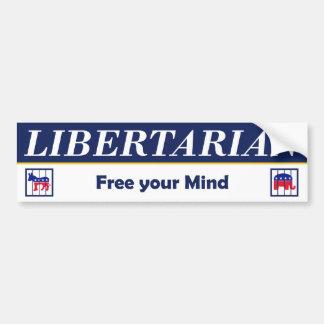 Libertario - libere su parachoque Sticke de la men Pegatina Para Auto