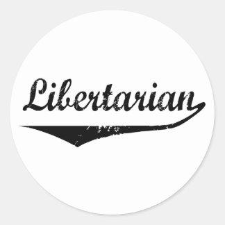 Libertario Etiqueta Redonda