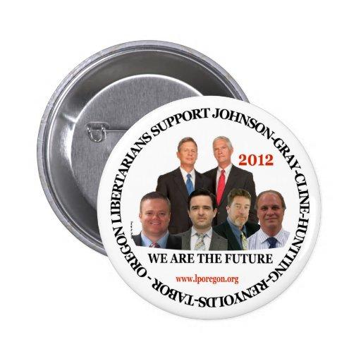 Libertarios de Gary Johnson Oregon Pins