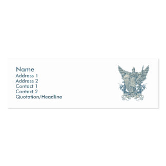 Libertas Blue Profile Card Double-Sided Mini Business Cards (Pack Of 20)
