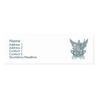 Libertas Blue Profile Card Mini Business Card