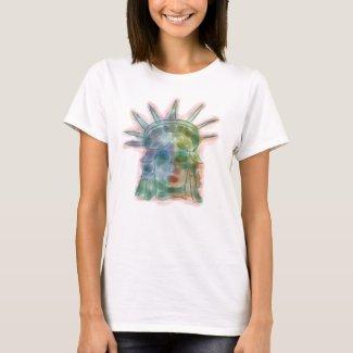 Libertas Colorful - Statue Of Liberty T-Shirt
