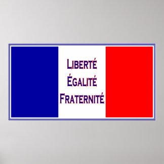 Liberté, Egalité, Bastille francés de la bandera d Póster