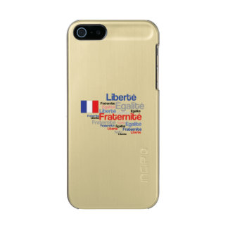 Liberté, Égalité, Fraternité - bandera francesa Carcasa De Iphone 5 Incipio Feather Shine