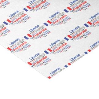 """Liberté, Égalité, Fraternité - French Motto Flag 10"""" X 15"""" Tissue Paper"""