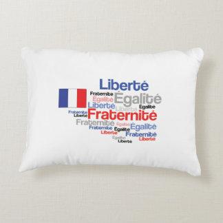 Liberté, Égalité, Fraternité - French Motto Flag Accent Pillow