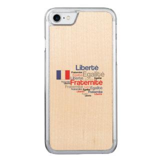 Liberté, Égalité, Fraternité - French Motto Flag Carved iPhone 7 Case