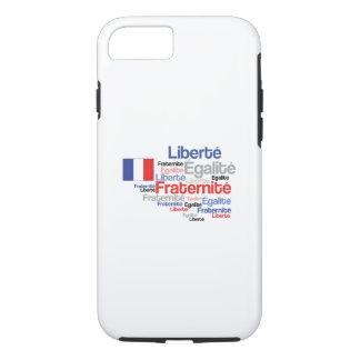 Liberté, Égalité, Fraternité - French Motto Flag iPhone 8/7 Case