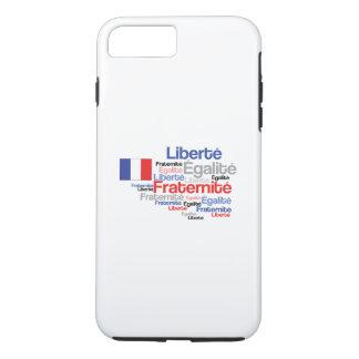 Liberté, Égalité, Fraternité - French Motto Flag iPhone 8 Plus/7 Plus Case