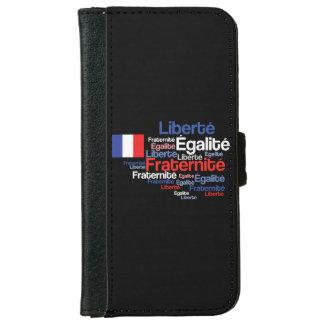 Liberté, Égalité, Fraternité French National Motto iPhone 6 Wallet Case
