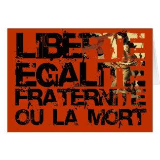 Liberte Egalite Fraternite French Revolution Greeting Card