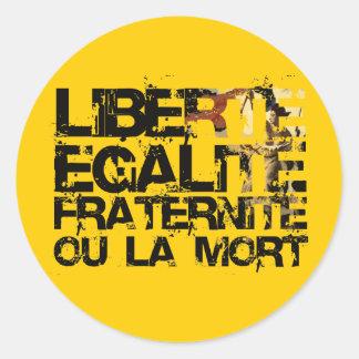 LIberte Egalite Fraternite!  French Revolution ! Classic Round Sticker