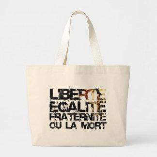 Liberte Egalite Fraternite: French Revolution Large Tote Bag