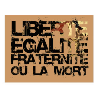LIberte Egalite Fraternite!  French Revolution ! Postcard