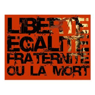 Liberte Egalite Fraternite French Revolution Postcard