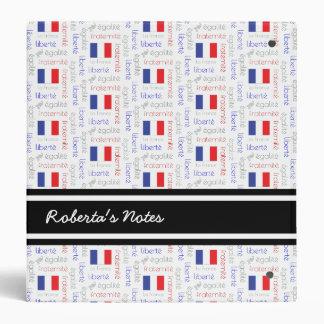 Liberté - Egalité - Fraternité French Word Pattern Binder