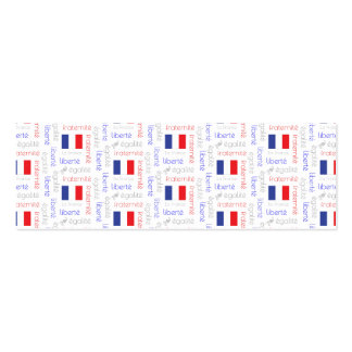 Liberté - Egalité - Fraternité French Word Pattern Double-Sided Mini Business Cards (Pack Of 20)