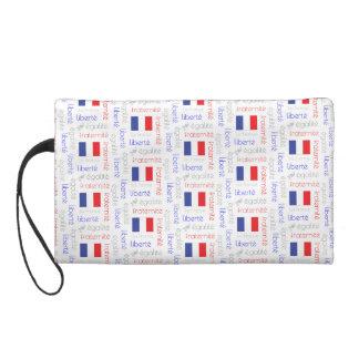 Liberté - Egalité - Fraternité French Word Pattern Wristlet