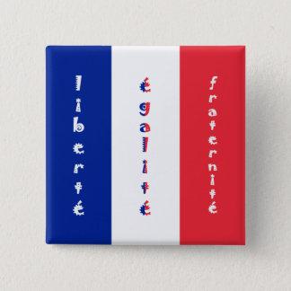 liberté, égalité, fraternité pinback button