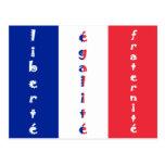liberté, égalité, fraternité postcard