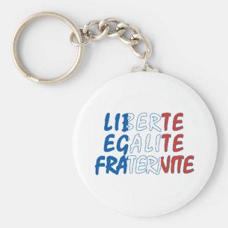Liberte Egalite Fraternite Products Keychain