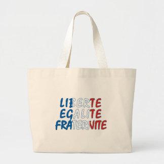Liberte Egalite Fraternite Products Large Tote Bag