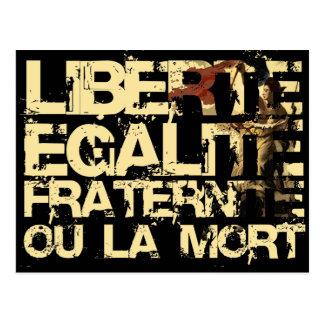Liberte Egalite Fraternite: Revolución Francesa Tarjeta Postal