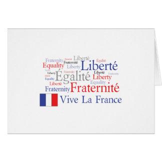 Liberté - Egalité - Fraternité: Revolución Tarjeta De Felicitación