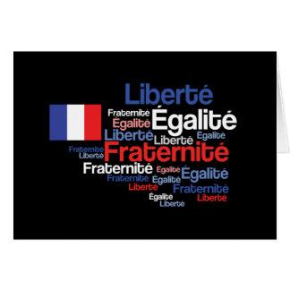 Liberté, Égalité, lema nacional francés de Tarjeta De Felicitación