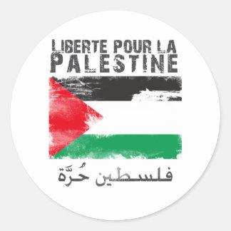 Liberté pour la Palestine (filistin hurra) Classic Round Sticker