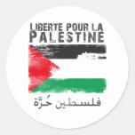 Liberté vierte el la Palestina (el hurra del Pegatina Redonda