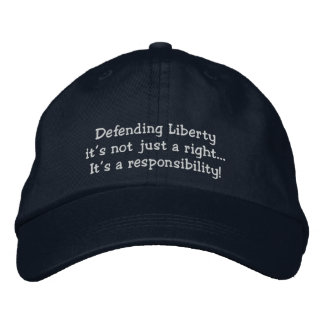 Liberties Embroidered Baseball Hat