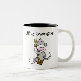 Libertino del chica del mono del calcetín pequeño taza de café