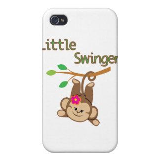Libertino del mono del chica pequeño iPhone 4 cobertura