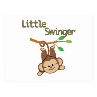 Libertino del mono del muchacho pequeño tarjetas postales