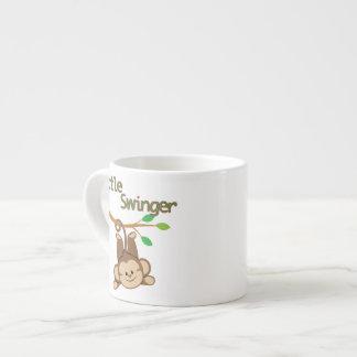 Libertino del mono del muchacho pequeño tazas espresso
