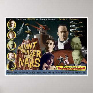 Libertino del mutante de Marte un ESTILO D de la h Posters