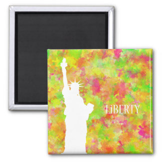 Liberty 2 Inch Square Magnet