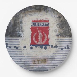 "Liberty 9"" Paper Plate"