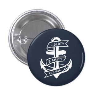 Liberty & Amity Anchor Pinback Buttons