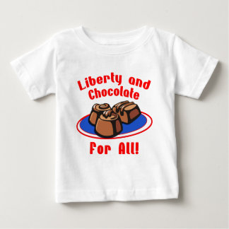 Liberty and Chocolate for All Products Baby T-Shirt
